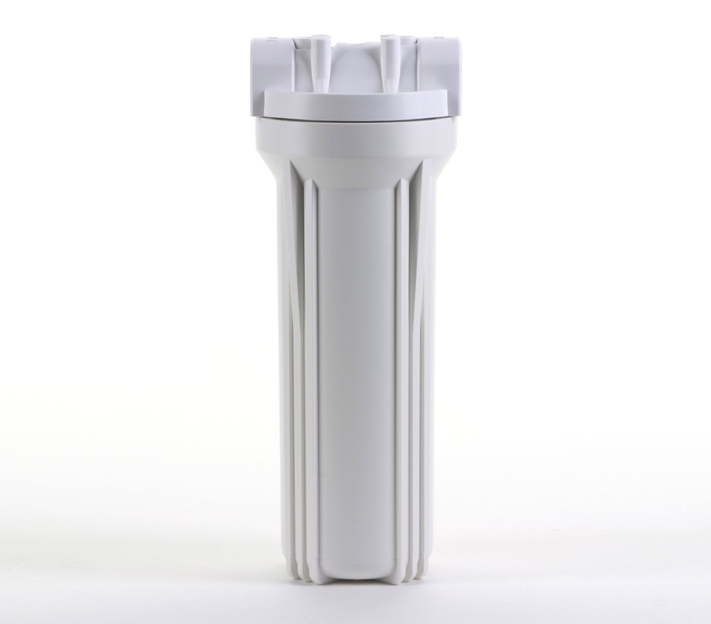 10 White Housing with White Rib Cap For RO /& Filtration Systems Hydronix HF3-10WHWH38 3//8 Ports