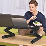 Laptop Table, Adjustable Laptop Bed Table, Portable Laptop Workstation Notebook Stand Reading Holder,Ergonomic Lap Desk TV Bed Tray Standing Desk