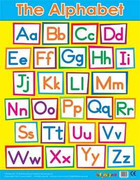 Easy2Learn Alphabet Literacy /& Phonics School Poster