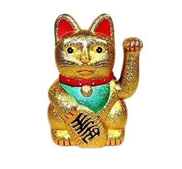 molti colori 12.7cm Fortuna Gatto Maneki Neko Che saluta Lucky Cat Argento