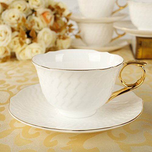 English-style afternoon tea coffee cup and saucer bone China ceramic coffee cup