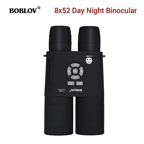 BOBLOV Prismáticos Binoculares, Visión Nocturna Telescopio Binocular 8X52mm 355 PPI con Alcance Localización de APM