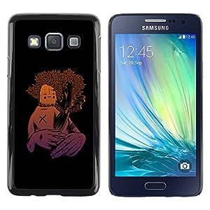 Caucho caso de Shell duro de la cubierta de accesorios de protección BY RAYDREAMMM - Samsung Galaxy A3 SM-A300 - Human Nature