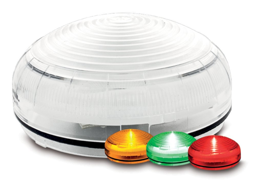 Federal Signal SLM450 StreamLine Modular Low Profile Multi-Color Status Indicator, Required Base Sold Separately, Amber/Green/Red, Polycarbonate