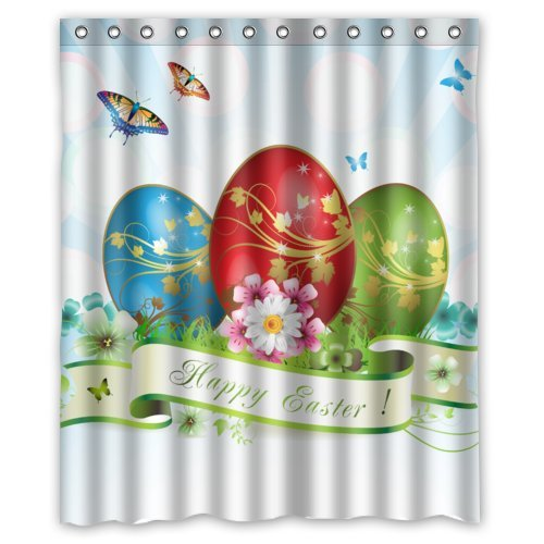 Amazon.com: Cool Fantastic Blue Red Green Eggs Happy Easter Shower ...