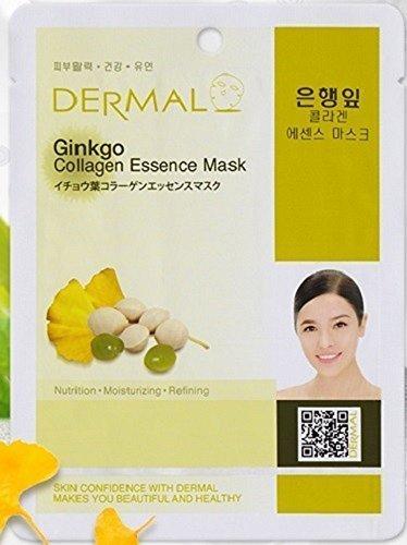 Dermal Korea Collagen Essence Mask - Ginkgo (10 (Ginkgo Mask)