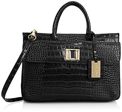 Swankyswans Bedford Patent Leather Business, sacoche ordinateur portable femme Noir - Noir