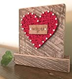 Sweet & small We love you heart block sign gift. String art gift for the home or office. Congratulations gift.