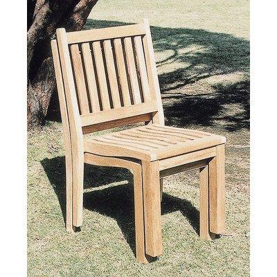 ガーデンチェア 木製 アームレス スタッキングチェア チーク材 B00SSV6PA2
