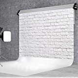 DULUDA 9X6FT White Brick Wall Seamless Pictorial cloth Customized photography Backdrop Background studio prop WXL27B