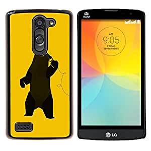 "Be-Star Único Patrón Plástico Duro Fundas Cover Cubre Hard Case Cover Para LG L Prime / L Prime Dual Chip D337 ( Divertido Baile Música Oso"" )"