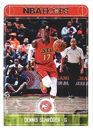 920635876 2017-18 NBA Hoops  59 Dennis Schroder Atlanta Hawks Official Basketball  Card made by