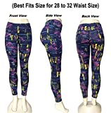 Fashion Womens Yoga Fitness Leggings Gym Stretch Running Pants (Best Fits Size for 28 to 32 Waist Size)