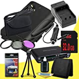 Canon EOS 70D DSLR Camera with 18-55mm STM f/3.5-5.6 Lens LP-E6 Lithium Ion Replacement Battery and External Rapid Charger + 32GB SDHC Class 10 Memory Card + 58mm 3 Piece Filter Kit + Mini HDMI Cable + Multi Card USB Reader + Memory Card Wallet + Deluxe S