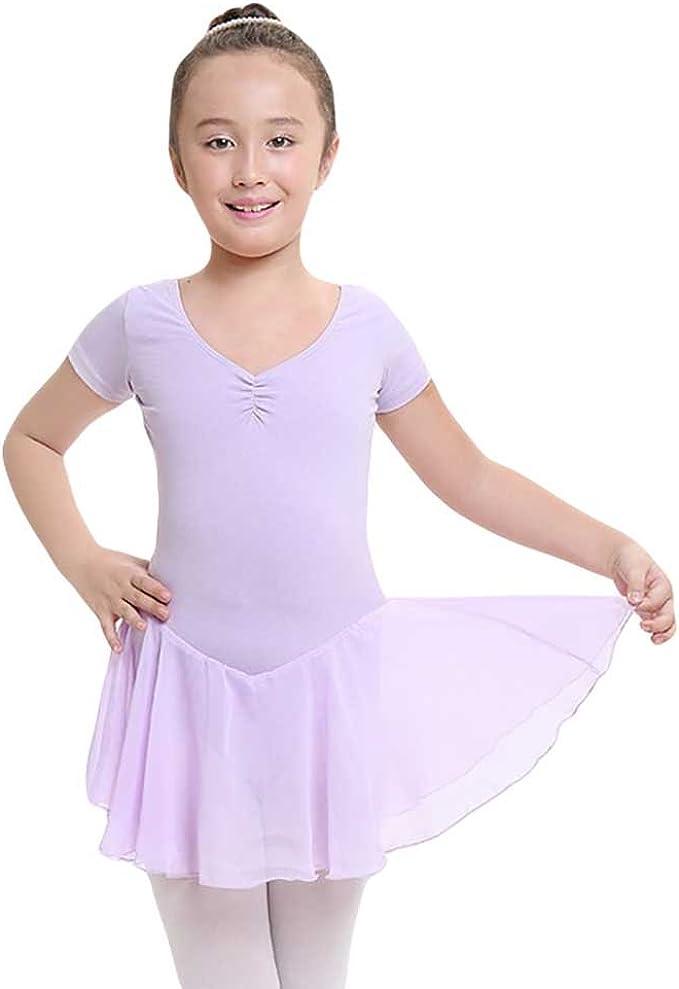 YouPue Niña Maillot Ropa Ballet Dancin Leotardo con Falda ...