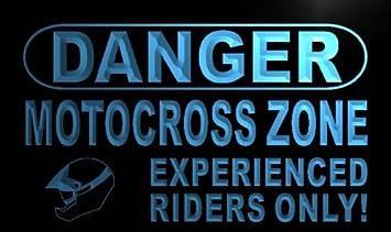 Amazon.com: ADV PRO m657-b cartel peligro zona de motocross ...