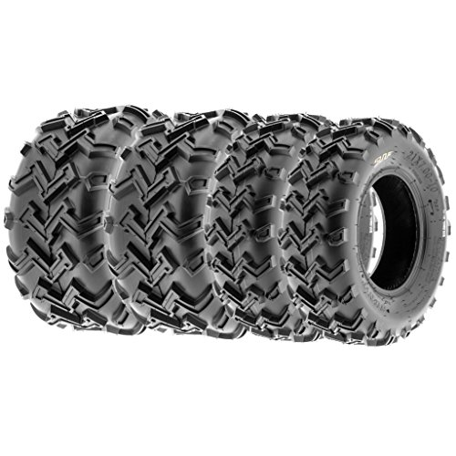 (SunF All Trail Replacement ATV UTV 6 Ply Tires 21x7-10 & 22x10-10 Tubeless A001, [Set of 4])