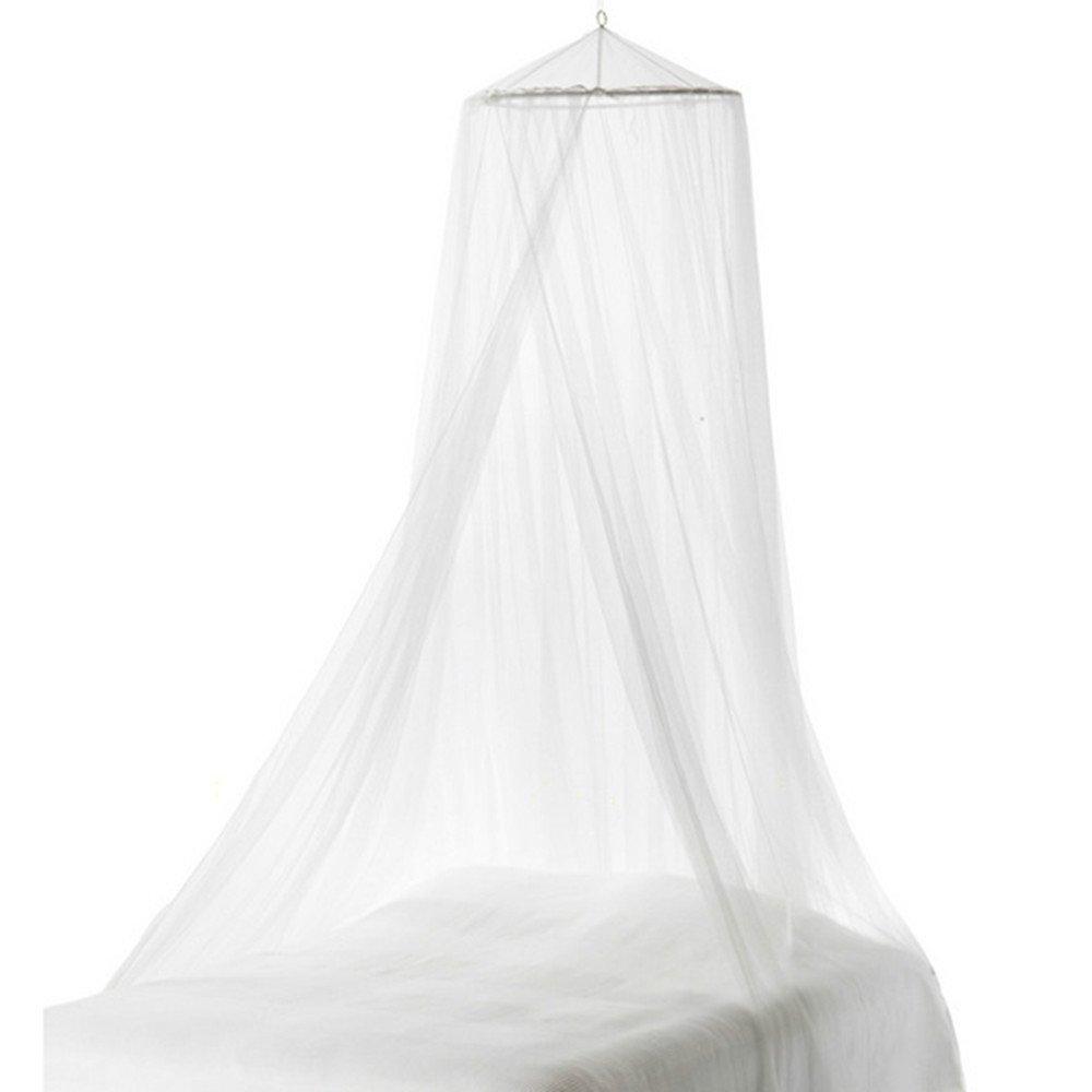 DASENLIN Moskitonetz Bett, Einfach, Runde, Single Tür, Weiße Dekoration.