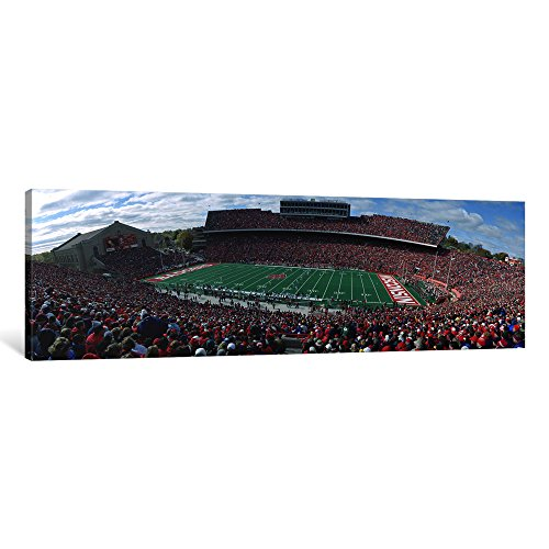 (iCanvasART 1 Piece University of Wisconsin Football Game, Camp Randall Stadium, Madison, Wisconsin, USA Canvas Print by Panoramic Images, 0.75 by 36 by 12-Inch)