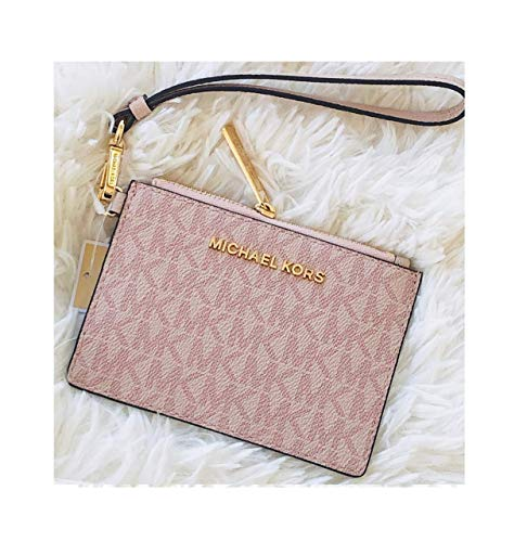 Michael Kors Jet Set Travel Top Zip Coin Pouch ID Card Case Wallet Wristlet (Ballet PVC)