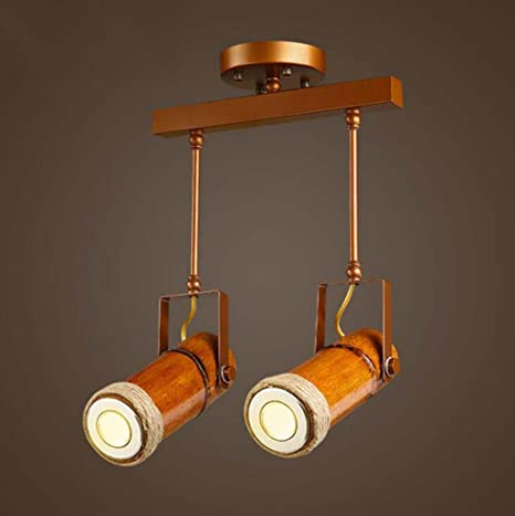 Kaxima Lámpara de techo LED bambú focos restaurantes estudio ...