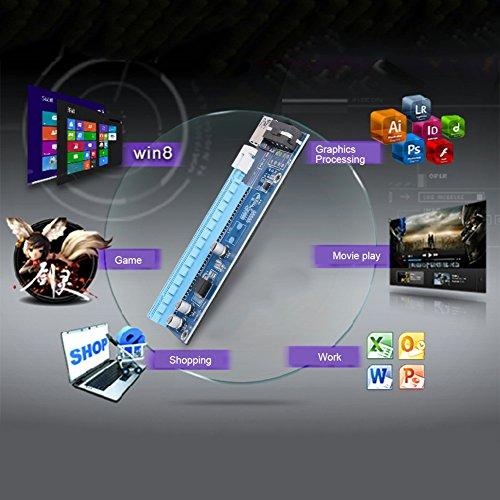Mining SATA Cable, Awakingdemi PCI-E 1X to 16X Extender Riser Card 4Pin USB3.0 Cable for Mining,20pcs by Awakingdemi (Image #4)