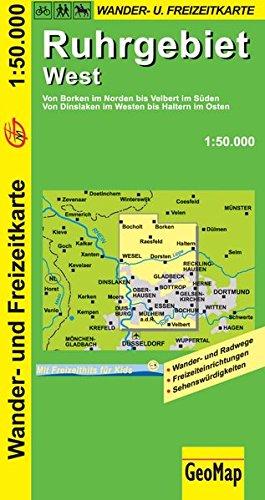 Ruhrgebiet West Wanderkarte 1 : 50 000: Freizeitkarte mit Wander- und Radwegen (Geo Map)