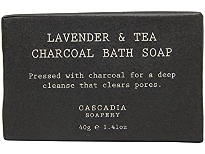 Cascadia Soapery Lavender & Tea Charcoal Bath Soap lot of 16 bars. Total of 22oz