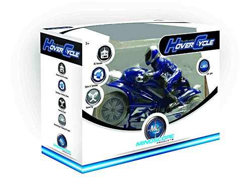 Mindscope Hovercycle Blue 49 MHz Remote Control (RC) Stunt Performing Light Up Motorcycle 49 Mhz Radio Control