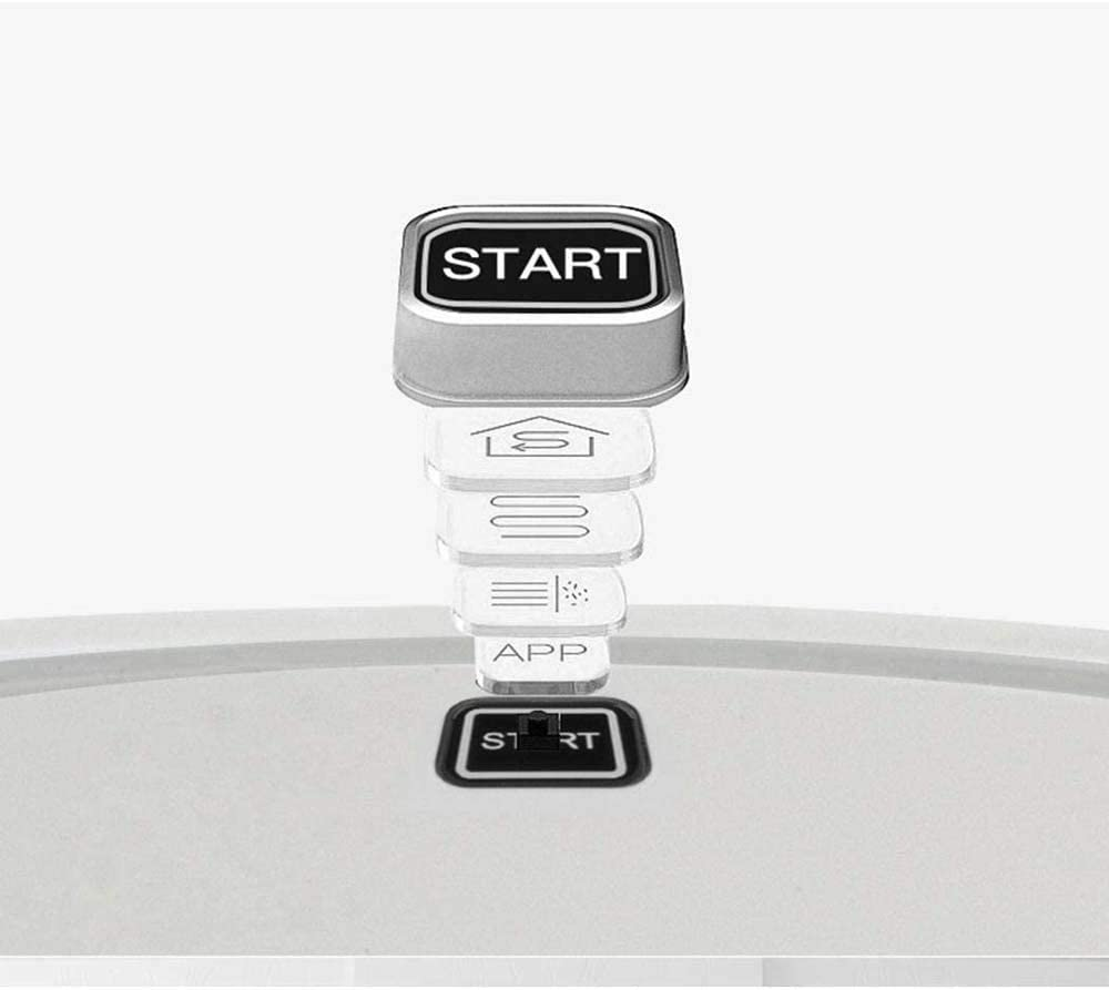 WJJH Balayer robotAutomatic Robot Aspirateur Nettoyant pour Plancher Balayer Aspirateurs Humide Sec,Noir White