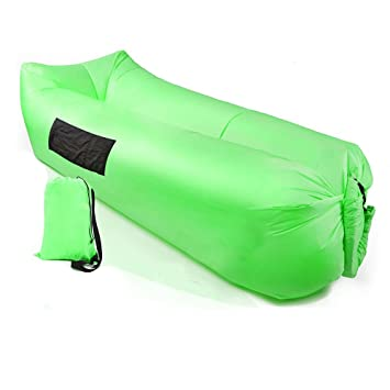 Tumbona inflable, sofá hinchable, sofá de aire, silla de dormir portátil, camas