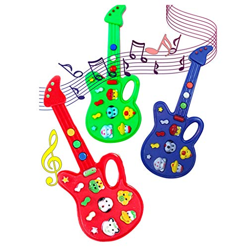 Wenini Guitar Toy Baby Kids Cute Electronic Guitar Rhyme Developmental Music Sound Child Toys Gift (Random Color) by Wenini (Image #4)