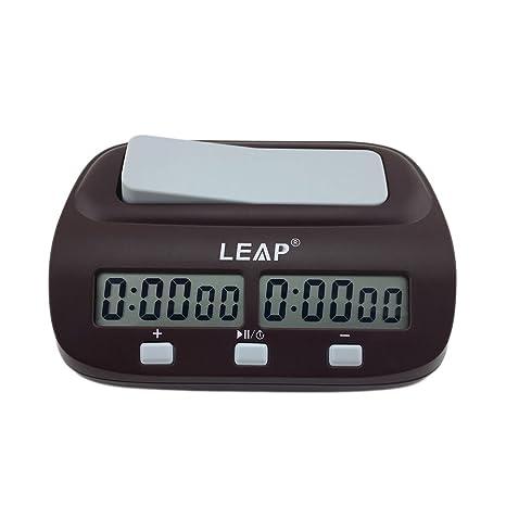 ulable reloj de ajedrez temporizador digital reloj de ajedrez dos pantallas LED Fashion Simple