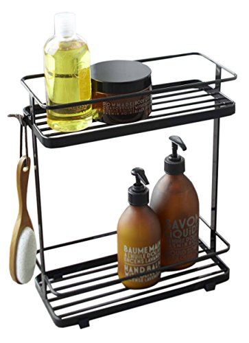 (Red Co. Stainless Steel Bathroom Caddy Stand in Black Finish )