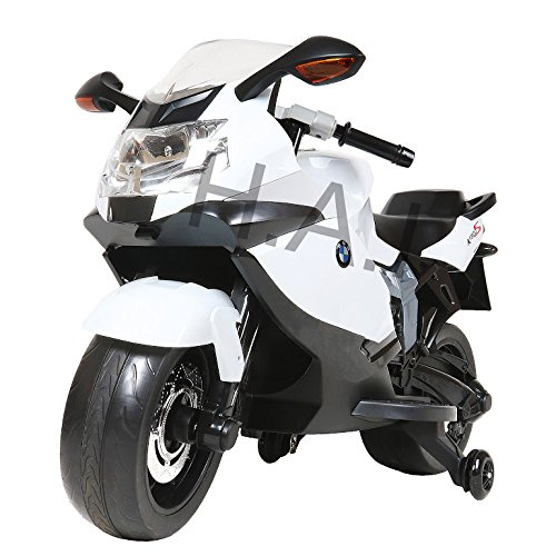 BMW Motorcycle Licensed Kids Ride On Toys Electric Scooter (White)