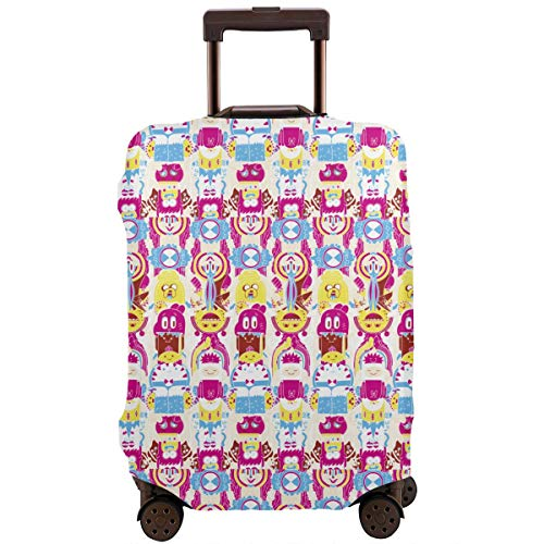 Cartoon Adventure Time Travel Suitcase Protector Dustproof And Scratch Proof