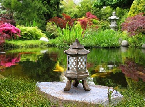 - CT DISCOUNT STORE Decorate Your Garden with A Cute Asia Style Solar Hexagon Pagoda
