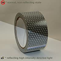 Oralite (Reflexite) V92-DB-COLORS Microprismatic Retroreflective Conspicuity Tape: 2 in. x 30 ft. (Silver-White)