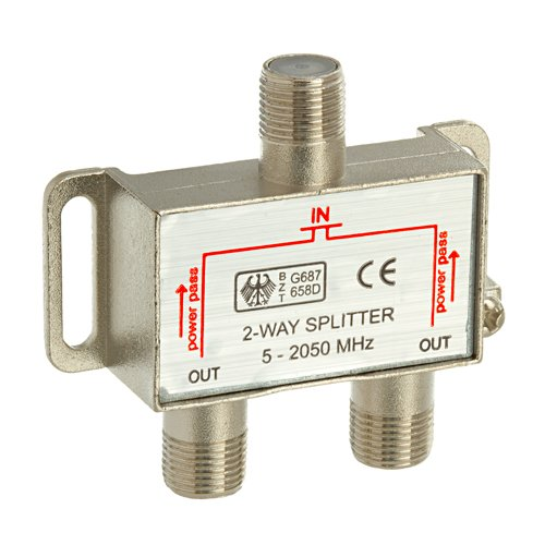 2 Way Video Splitter (Valley 2-Way Coax Cable Splitter 2Ghz Cable TV Video)