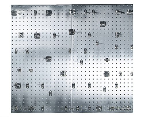 - Triton Products Locking Pegboard Hooks LB2-SKit 304 Stainless Steel Square Hole Pegboards with 45 Piece Stainless LocHook Assortment with Mounting Hardware, 24