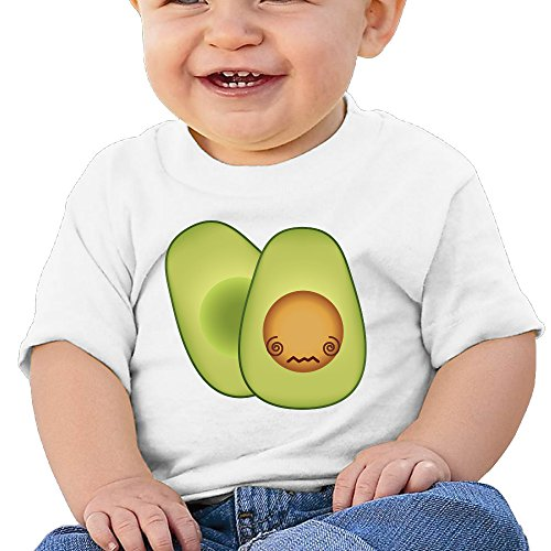 Price comparison product image Boss-Seller Avocado Short Sleeve Tee For 6-24 Months Toddler Size 24 Months White