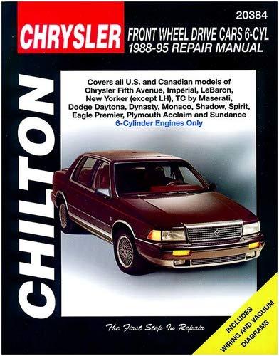 Chilton Chrysler Front Wheel Drive 6 Cylinder 1988-1995 Repair Manual (20384)