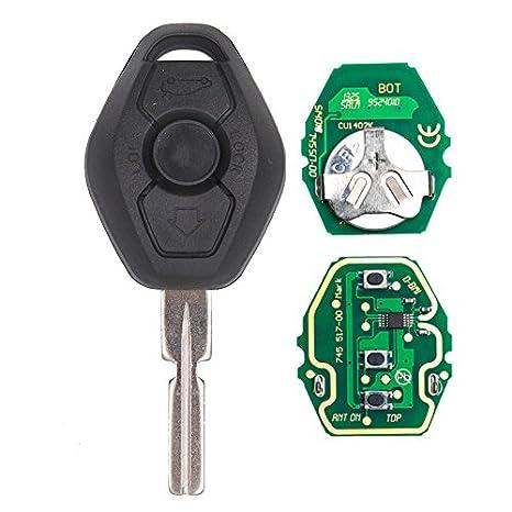 Keyecu Remote Key 3 Button For Bmw 3 5 7 Series E38 E39 E46 With Chip 315mhz 433mhz Hu58