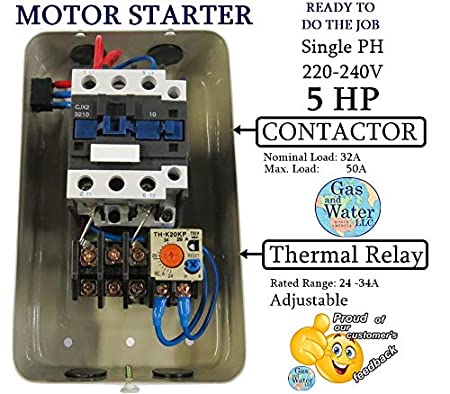 Groovy Magnetic Electric Motor Starter Control 5 Hp Single Phase 220 240V Wiring Database Lukepterrageneticorg