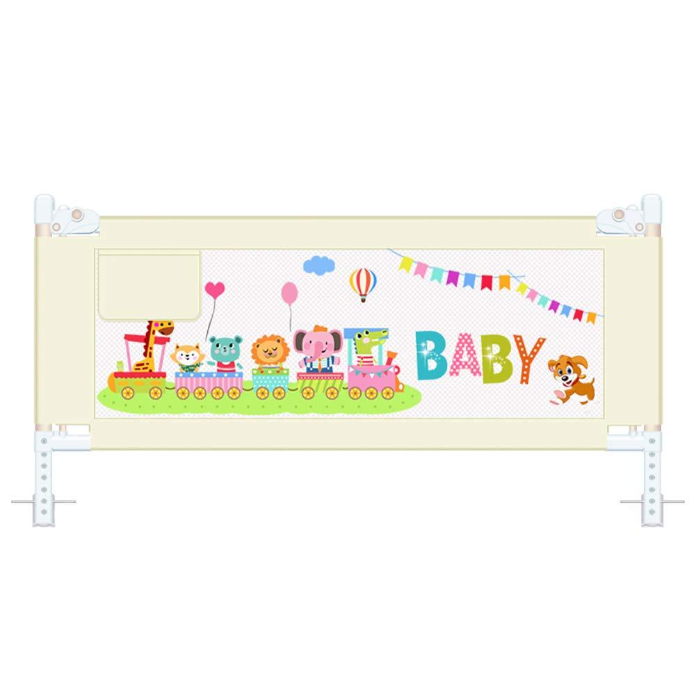 ベッドフェンス ベージュエクストラロングベッドレール、幼児ベッドレールガードスチール折りたたみセーフティベッドガードキッズツイン/ダブル/フルサイズベッドレール (サイズ さいず : Length 200cm) Length 200cm  B07JYZDQ8B