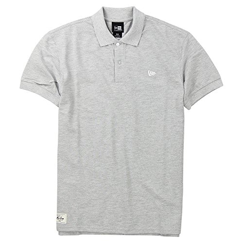New Era Branded Cotton Polo Shirt (Grey, Medium)