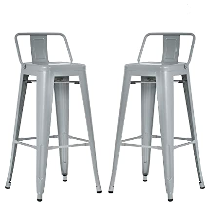 Amazoncom Bestmassage Metal Bar Stools 30 Inch Height Set Of 2 Low
