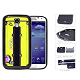 Honda JDM Series 2-Piece Dual Layer High Impact Black Silicone Phone Case Samsung Galaxy s4 sIV I9500 (Yellow)