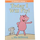 Constructive Playthings LB-953 ''Today I Will Fly'' an Elephant and Piggie Book by Mo Willems, Grade: Kindergarten to 3, 6.75'' Height, 0.5'' Wide, 9.25'' Length