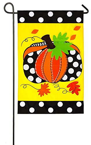 Polka Dot Pumpkin Garden Flag
